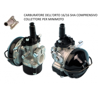 Carburatore SHA 16/16 Dellorto originale con collettore